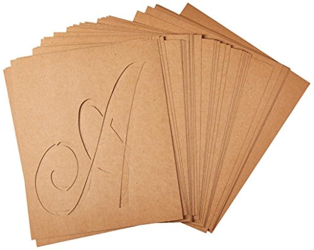 FolkArt 50320 Stencil Paper, Alphabet & Monogram Script 7