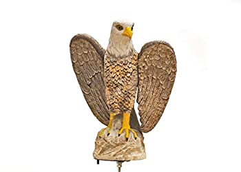 BirdBusters Rotating Attack Eagle Decoy Scares Birds Wind Driven 17  Tall - Distress & Predator Calls Better Then Scare Owl!