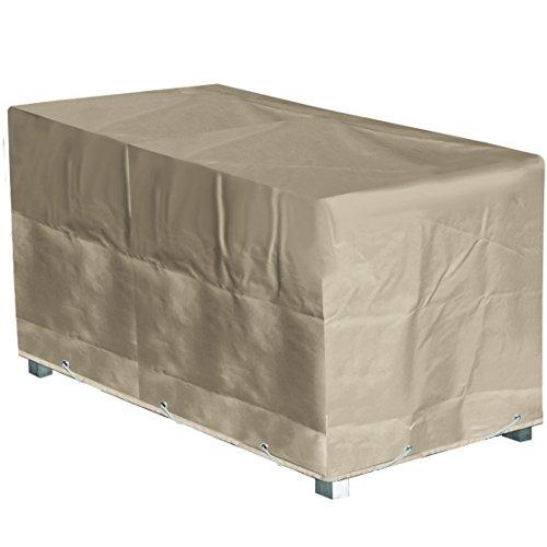 GREEN CLUB Housse de Protection Table de Jardin Rectangulaire Haute qualité Polyester L 180 x l 110 x h 70 cm Couleur Beige