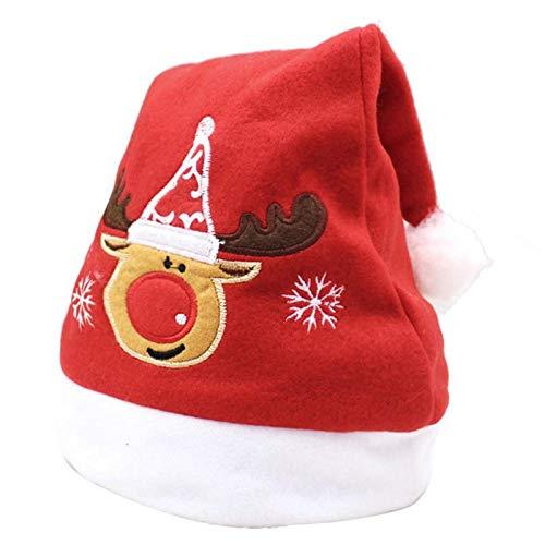 shenlanyu Sombrero de Pap Noel bordado Sombrero de Navidad Adulto Sombrero de Navidad Mueco de Nieve Santa Cerveza Decoracin de Navidad Sombrero Casa Bares Escuela Centros Comerciales Regalo 3