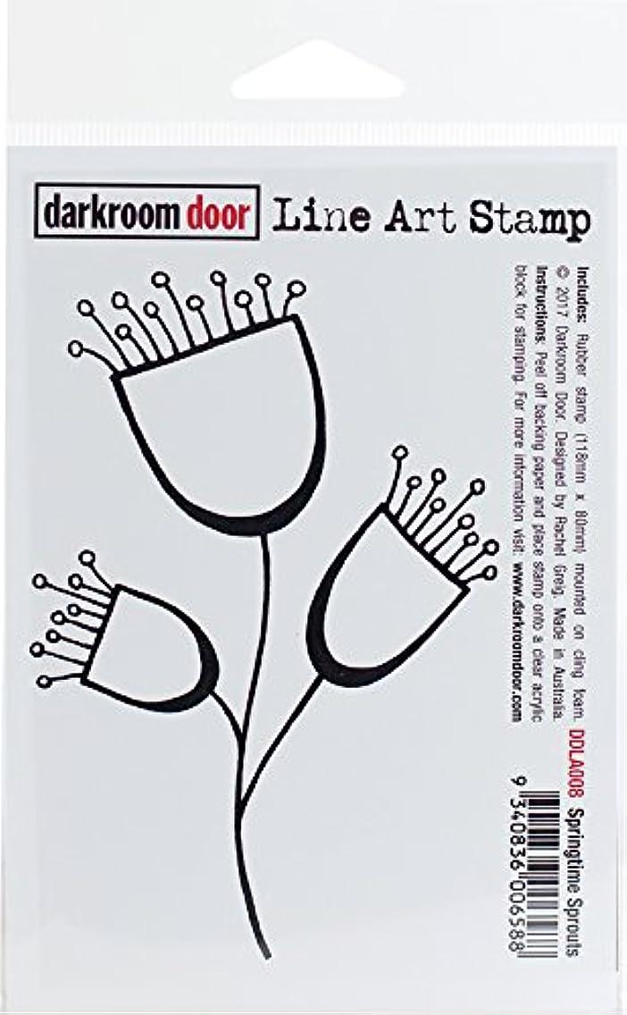 Darkroom Door Springtime Sprouts Cling Stamp 4.5