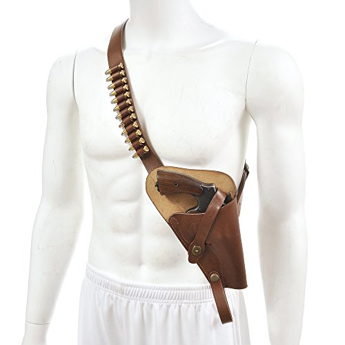 """M3 Victory Revolver Premium Brown Drum Dyed Leather""""Tanker"""" Shoulder Holster with shell loops marked JT&L 1943 Holster Only"""