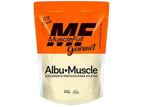 Albu Muscle - Albumina Pura Pessego - 450g - Muscle Full