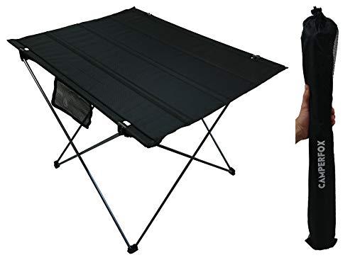 CamperFox 1680D Oxford-weefsel, inklapbaar, voor outdoor, draagbaar, 75 x 54 cm, tuintafel, lichte klaptafel, 1 kg, aluminium, lichtgewicht reistafel, opvouwbaar, licht, aluminium