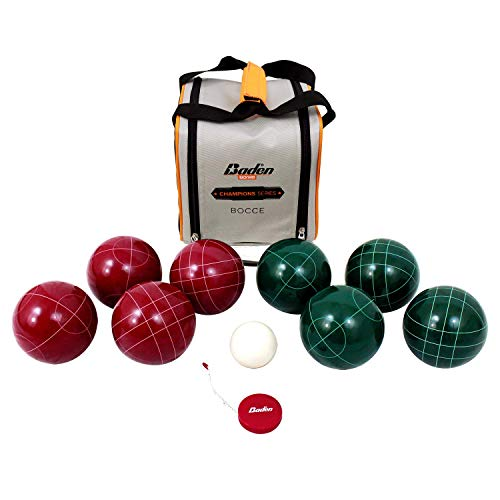Baden Champions Bocce Ball Set – Official Size 107mm & Official Weight 920g with Carry Case and Measuring Tape