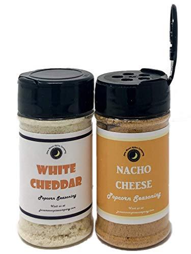 Sale!! Premium | POPCORN SEASONING Variety 2 Pack | WHITE CHEDDAR Popcorn Seasoning | NACHO CHEESE P...