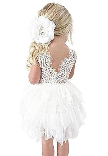 Vestido de Encaje con Lentejuelas de Niña Vestido de Fiesta