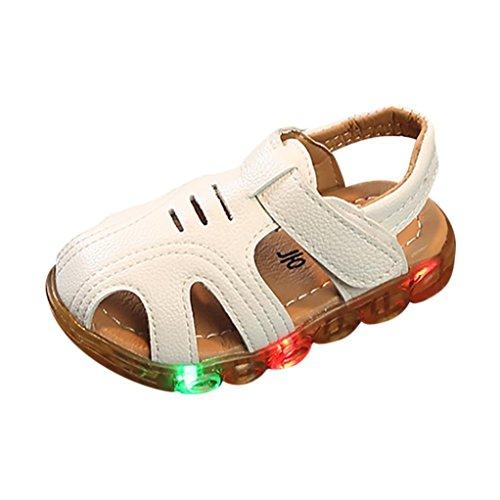 Sandalias para 1-6 Años Xinantime Niño Zapatos de Verano con Luces Intermitentes...