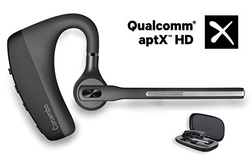 Bluetooth Headset CVC8.0 Noise Cancelling Dual Mic, Conambo Wireless Bluetooth Earpiece V5.0 Hands-Free Earphones, Compatible with iPhone and Android Cell Phones Driver/Trucker/Business