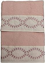 RICAMI FIORENTINI BALDI Handdoekenset, geborduurd, badstof van 100% katoen, 550 g/m², 2 stuks: gezicht + gasten, cadeau-id...