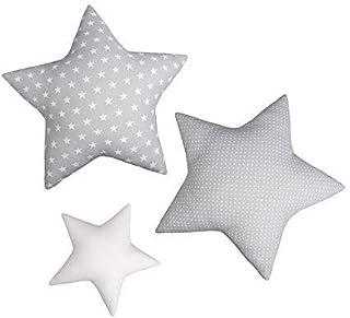 Lulando Lot de 3 oreillers en forme d'étoile, coussin en coton à trois couleurs pour enfants, coussin décoratif, décoratio...
