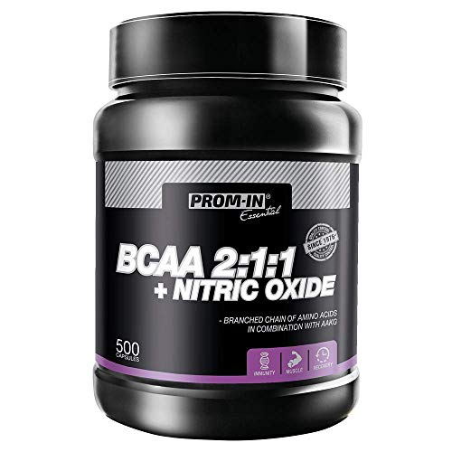 BCAA 2:1:1 Maximal + nitrix Oxide Suitable for Athletes with Increased Physical Activity | Protects Muscles from Injury and Promotes Muscle Growth (500 Capsules)