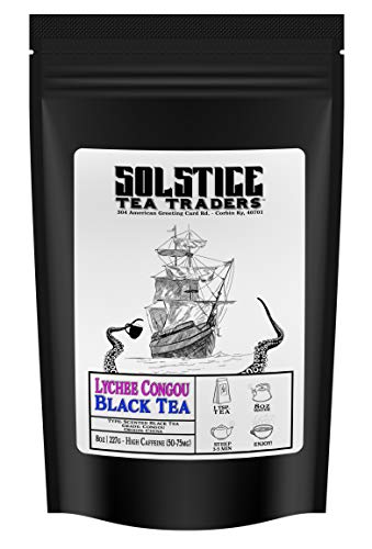 Lychee Congou Loose Leaf Black Tea (8-Ounce Bulk Bag); Makes 100+ Cups of Tea