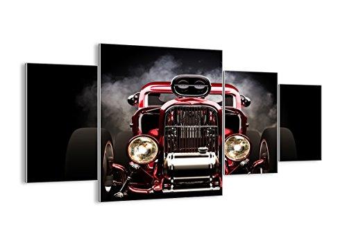 Quadro su vetro - 4 Parties - Auto classico retro sport - 160x90cm - Pronto da appendere - Home Decor - Arte digitale - Quadri Moderni In Vetro - Stampe Da Parete - GDL160x90-2422