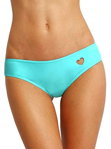 Rak Mark Braguita de Bikini con Corte de corazón Tanga brasileña Color Azul (M)