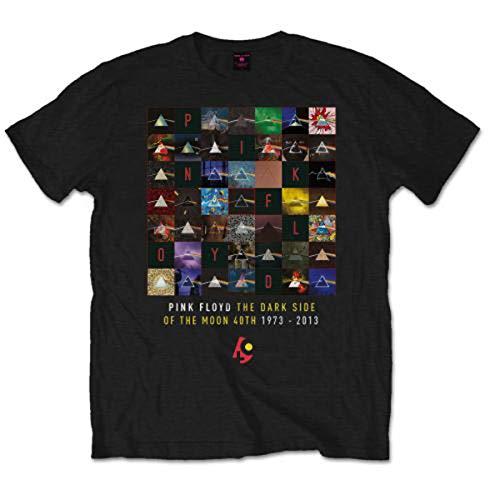 Pink Floyd Herren, T-Shirt, DSOTM 40th Variations, Schwarz (Black), M
