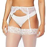 Gossard - Ligueros con Bordados para Mujer, Talla XL, Color Blanco