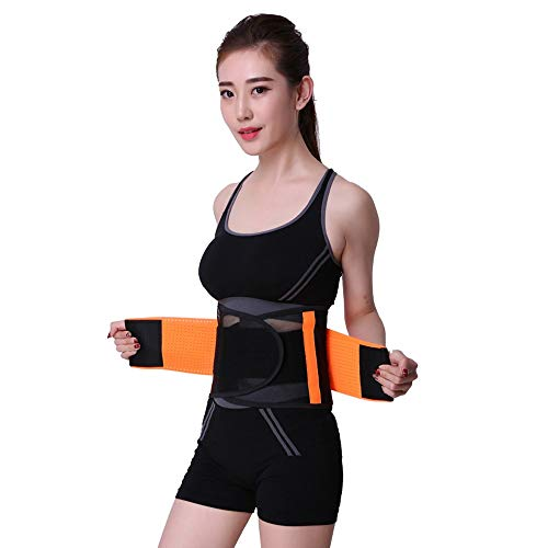 No-branded GYMGUS Body Shaper Waist Trimmer Belt Slimmer Kit Weight Loss Wrap Stomach Fat Burner Low Back and Lumbar Support Best Trainer (Color : Orange, Size : XXL)