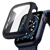 TOPACE Hülle mit für Apple Watch Series 6 / SE/Serie 5 / Series 4 Hülle Mit Panzerglas Displayschutz, 360°Rundum Schutzhülle, Ultradünne PC Hardcase für iWatch (44MM, Blau)