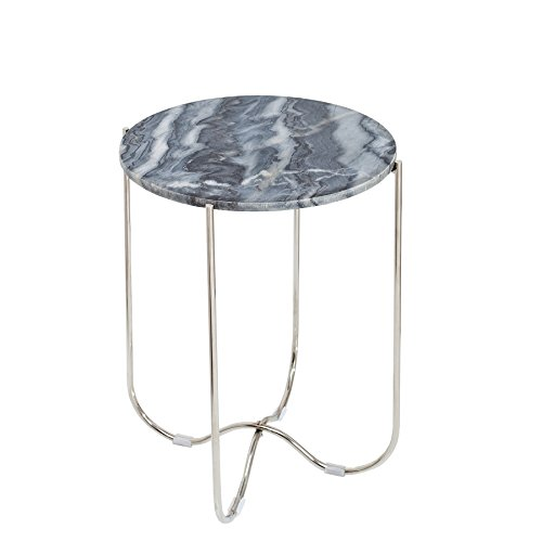 Invicta Interior Exklusiver Beistelltisch Noble II 38cm grau echter Marmor hochwertig verarbeitet Tisch
