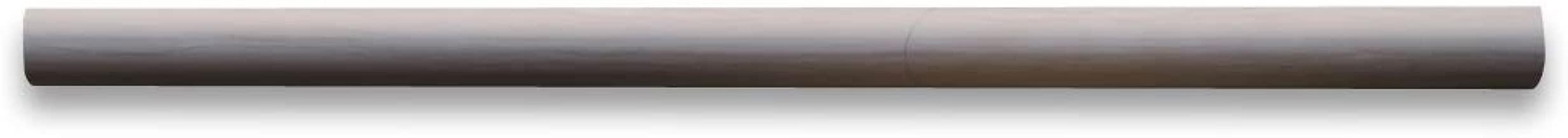Athens Grey Haisa Dark Wood Grain Marble Pencil Liner Trim Molding 5/8 x 12 Honed