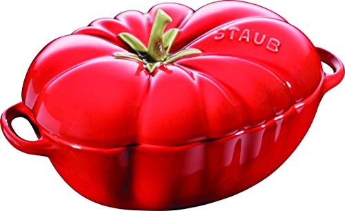 Staub 405118550 Cocotte en forme de tomate, céramique émaillée