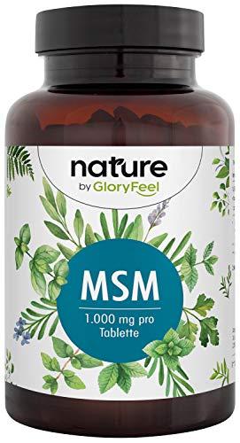MSM + Vitamin C Natürlich (Acerola) - 365 vegane Tabletten - 2000mg MSM (Methylsulfonylmethan) pro Tagesdosis - Extra hochdosiert - Laborgeprüft ohne Zusätze hergestellt in Deutschland