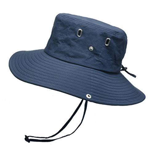 VooZuGn Unisex Adulto UPF 50+ Sombrero De Sol Al Aire Libre Plegable Secado Rápido Transpirable Multiusos para El Gorro Pescador Anti-UV El Verano Hat Hombre Mujer Womens