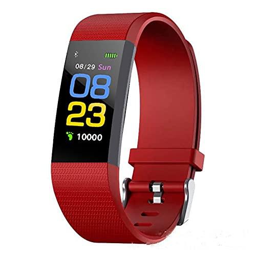 Reloj Inteligente Smartwatch Pulsera Inteligente Mujer Hombre Niño Llamadas Pantalla a Color Deportes Podómetro Dormir Monitor,Red