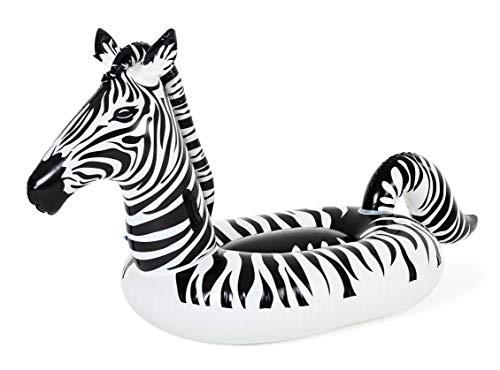Bestway Schwimmtier Zebra mit LED-Licht, 254 x 142 cm