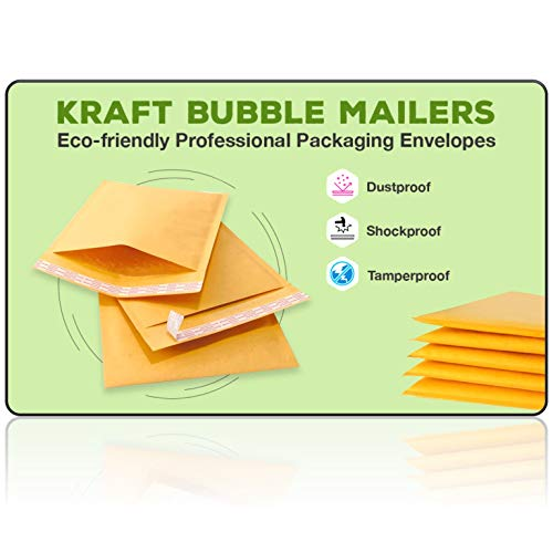 Sales4Less #7 Kraft Bubble Mailers 14.25X20 Inches Shipping Padded Envelopes Self Seal Waterproof Cushioned Mailer 10 Pack Photo #4