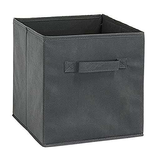 Fsrybh 1 Caja de Almacenamiento de estanterías, Cubo básico de Almacenamiento de Tela Plegable, con Mango, Cesta de Almacenamiento de Oficina