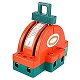 SANON Interrupteur de Déconnexion de Couteau à Double Jet Orange Rouge Borne de Connexion Fournitures Électriques