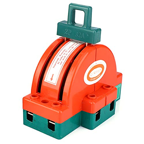 SANON Interruptor de Desconexión de Cuchillo de Doble Tiro Naranja Rojo Conexión...