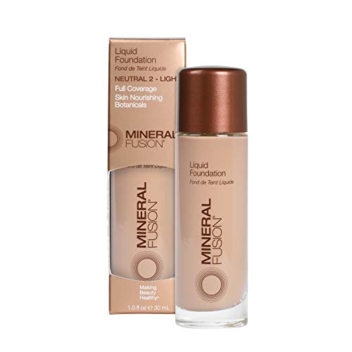 Mineral Fusion Liquid Foundation, Neutral 2, 1 Ounce (Packaging May Vary)