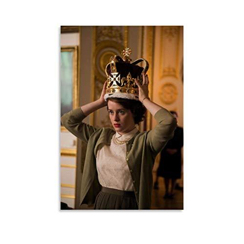 Megiri Crown Season 4TV Elizabeth Wears Crown Art - Lienzo decorativo para pared (20 x 30 cm), diseño de corona
