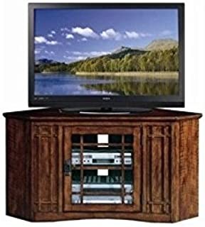 """BOWERY HILL 46"""" Corner TV Stand in an Oak Finish"""