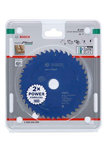 Bosch Professional Lama per sega circolare Expert for Wood (legno, 140 x 20 x 1.8 mm, 42 denti, accessorio per sega circolare a batteria)