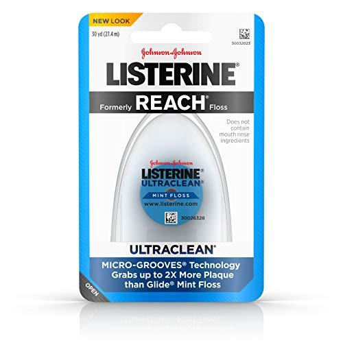 Listerine Ultraclean Dental Floss, Oral Care, Mint-Flavored, 30 Yards (Pack of 3)