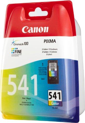 Canon CL-541 Cartucho de tinta original Tricolor para Impresora de Inyeccion de tinta Pixma TS5150-TS5051-MX375-MX395-MX435-MX455-MX475-MX515-MX525-MX535-MG2150-MG2250-MG3150-MG3250-MG3550-MG3650-MG4150-MG4250