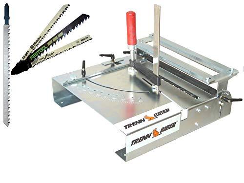 Trenn-Biber 012L-1 - Juego de mesa de sierra para sierras de calar de todas las marcas y hojas de sierra de Metabi, Bosch y Festool