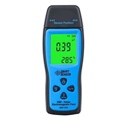 SYXZ Mini EMF Tester, LCD Elektromagnetische Feld-Strahlung Detektor, Meter Zähler Handheld L blau