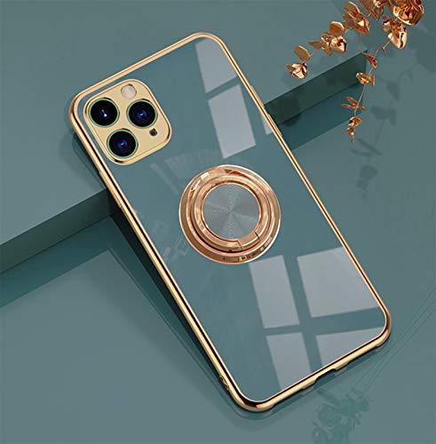 Jacyren Hülle für iPhone 12 Pro Max Handyhülle,iPhone 12 Pro Max Schutzhülle Superdünnes magnetische KFZ-Halterung mit 360-Grad Finger-Halter Schale für iPhone 12 Pro Max (iPhone 12 Pro Max, grau)