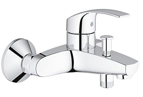 Grohe Eurosmart badkraan Badkraan met automatische omschakeling chroom/zilver.