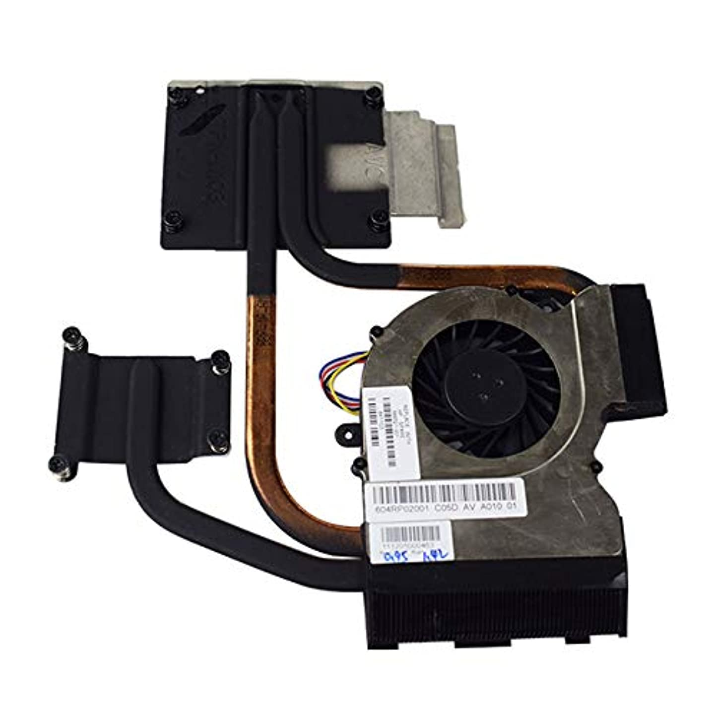 Rangale New CPU Cooling Fan with Heatsink for HP Pavilion dv7-6000 DV7-6100 DV7-6123CL DV7-6135DX DV7-6143CL DV7-6143NR DV7-6163NR DV7-6163US DV7-6164NR DV7-6165US DV7-6169NR DV7-6187CL DV7-6188CA DV7-6197CA series laptop. (Fit for Intel processor only)