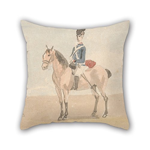 Artistdecor Oil Painting Paul Sandby - The Light Dragoons Throw Valentine Day Pillow Covers Best For Festival Car Family Bar Seat Kids Girls Couch 16 X 16 Inches / 40 By 40 Cm(2 Sides)