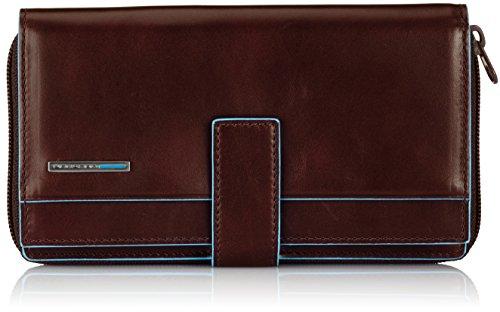 Piquadro PD1354B2 Portafoglio, Collezione Blu Square, Mogano