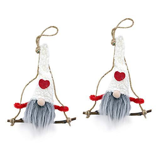 3 adornos colgantes de Navidad con diseño de muñeco y sombrero, regalo para niños