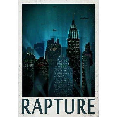 Rapture Retro Travel Poster 24 x 36in