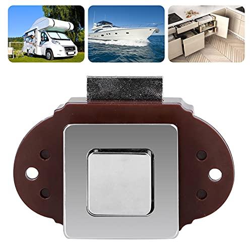 Bloqueo de perilla RV, botón pulsador sin llave de aleación de Zine, bloqueo portátil con panel grueso para yate, cajón para armario